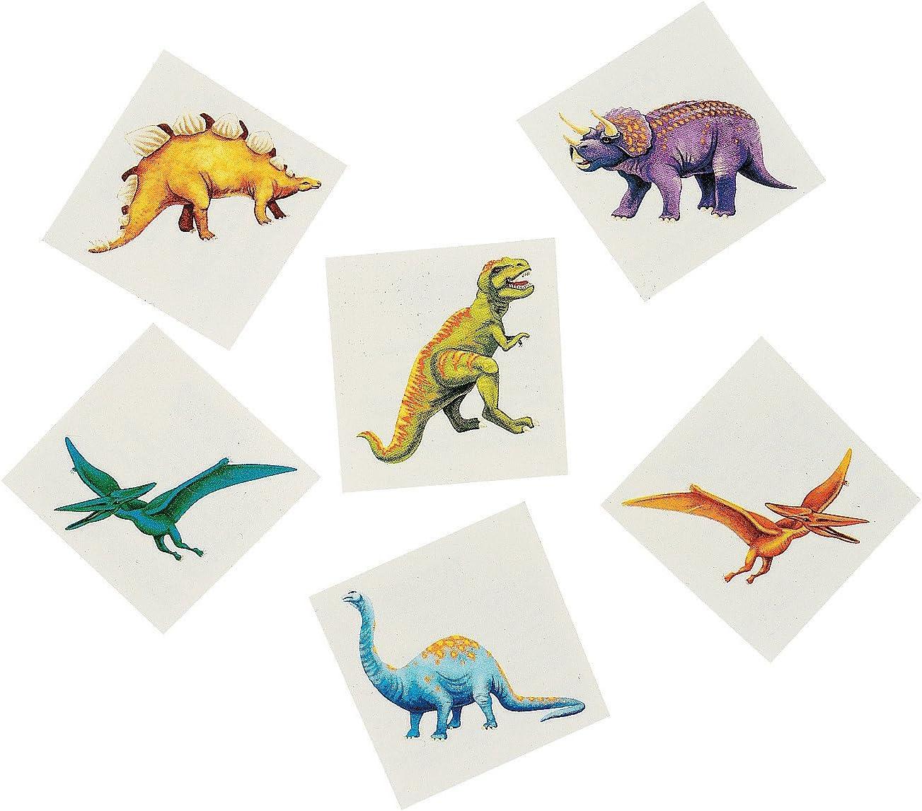 48 childrens temporary,dinosaur tattoos by Hendbrandt
