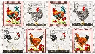 Robert Kaufman Down On The Farm Chicken 24'' Panel Country