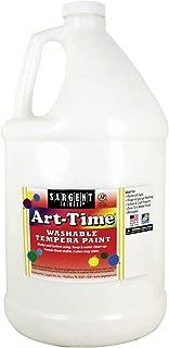 Sargent Art 17-3696 128 Ounce White Art-Time Washable Tempera Paint, Gallon, 1 Gallon