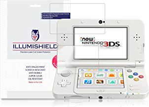 iLLumiShield Screen Protector Compatible with New Nintendo 3DS (Standard Version,2015)(3-Pack) Clear HD Shield Anti-Bubble and Anti-Fingerprint PET Film