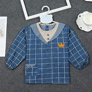 0-3 Years Old Children's Bib Long-sleeved Waterproof Gowns Men And Women Baby Wear-resistant Painting Anti-dressing Bibs W...