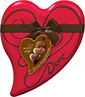 DOVE Valentine's Assorted Chocolate Candy Heart Gift Box 6.5-Ounce Tin