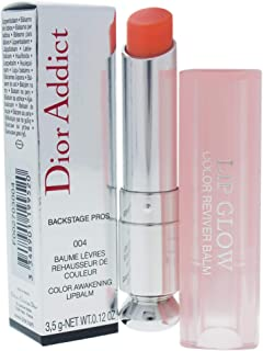 Christian Dior Addict Glow Color Awakening Lip Balm SPF 10, No. 004 Coral, 0.12 Ounce