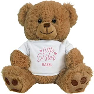FUNNYSHIRTS.ORG Little Sister Hazel: 8 Inch Teddy Bear Stuffed Animal