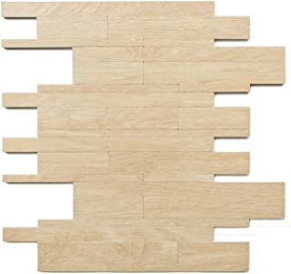 HomeyMosaic Subway Peel and Stick Tile Backsplash for Kitchen Wall Decor,PVC Ecru Marble Wood Stone Easy DIY Mosaic Tiles Backsplash(11