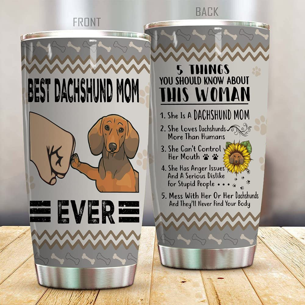Dachshund Tumbler Best Super sale period limited Mom Steel Ever Stainless Over item handling Vacuum