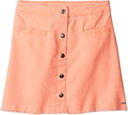 Snap Front Fray Skirt (Big Kids)