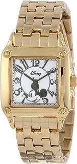 ساعة ديزني النسائية W000477 ميكي ماوس بيرفيكت سكوير بسوار