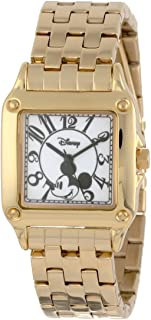 Disney Women's W000477 Mickey Mouse Perfect Square Bracelet Watch