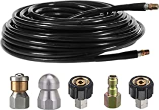 Sewer Jetter Hose Kit for Pressure Washer 1//4 Inch NPT x 100 FT 4400 PSI
