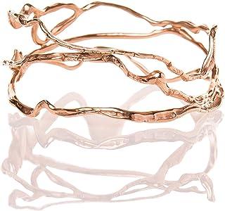 Braccialetto bangle bronzo dorato Onda