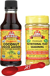 Bragg's Organic Saver Package: Bragg Organic Coconut Liquid Aminos, 10 Oz + Bragg's Nutrional Yeast Supplement, 4.5 Oz