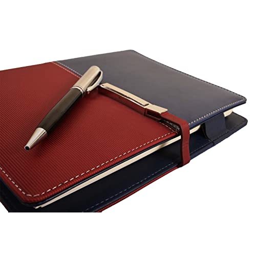 7d97cbb20a110 COI Unique Business Faux Leather Undated Planner   Diary With Pen (Blue And  Red)