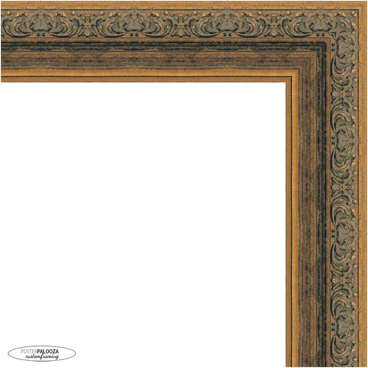 Poster Palooza 39x27 Ornate Gold Frame Wood Picture Complete New color Indefinitely wit