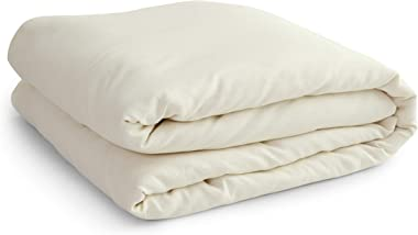 Solino Home 100% Pure Linen Belgian Duvet Cover – King, Ivory - Prewashed Duvet Cover with Inner Ties - Oeko-TEX Certified