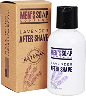 Aftershave for Men 4.0 oz After Shave Balm Made With Organic and Natural Vegan Plant Ingredients - Post Shave Lotion for Sensitive Skin Eliminates Razor Burns, Calms Irritation & Cools Skin, Lavender