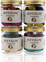 80 Pcs Backflow Incense Cones 4 Bottles 8 Mixed Natural Scents Ocean Sandalwood Cherry Blossoms Jasmine Osmanthus Lavender...
