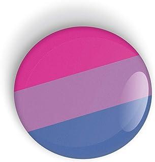 Bisexual Pride Flag pin badge button or magnet, Orgullo bandera botón de insignia o imán de nevera LGBT LGBTQ LGBTQI LGBTQIA