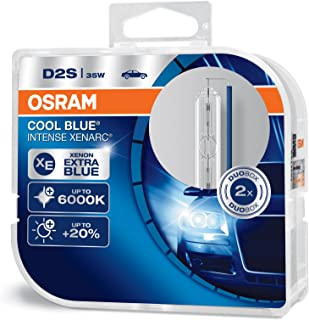 OSRAM XENARC COOL BLUE INTENSE D2S HID xenon arc tubes, discharge lamp, 66240CBI-HCB, Duobox (2 units)