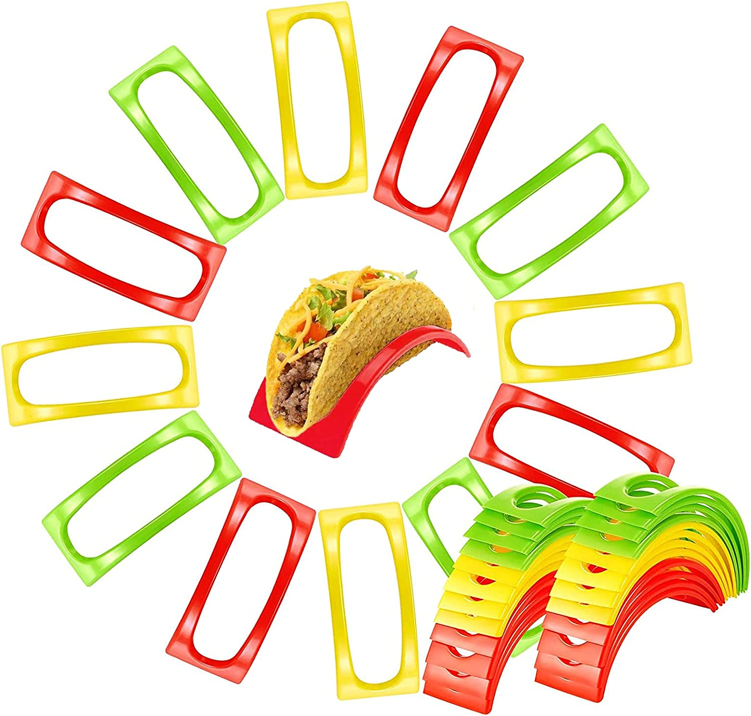 Set of 36 Taco Holders OFFicial shop - Colorful supreme BPA Non Free S Toxic Microwave