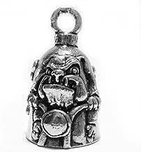 Guardian® Bad to the Bone Bulldog Motorcycle Biker Luck Gremlin Riding Bell or Key Ring