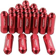 EZAUTOWRAP Gold 20 PCS M12x1.25 Lug Nuts Short 50mm Tuner Open End Aluminum Wheels Rims Cap WN01