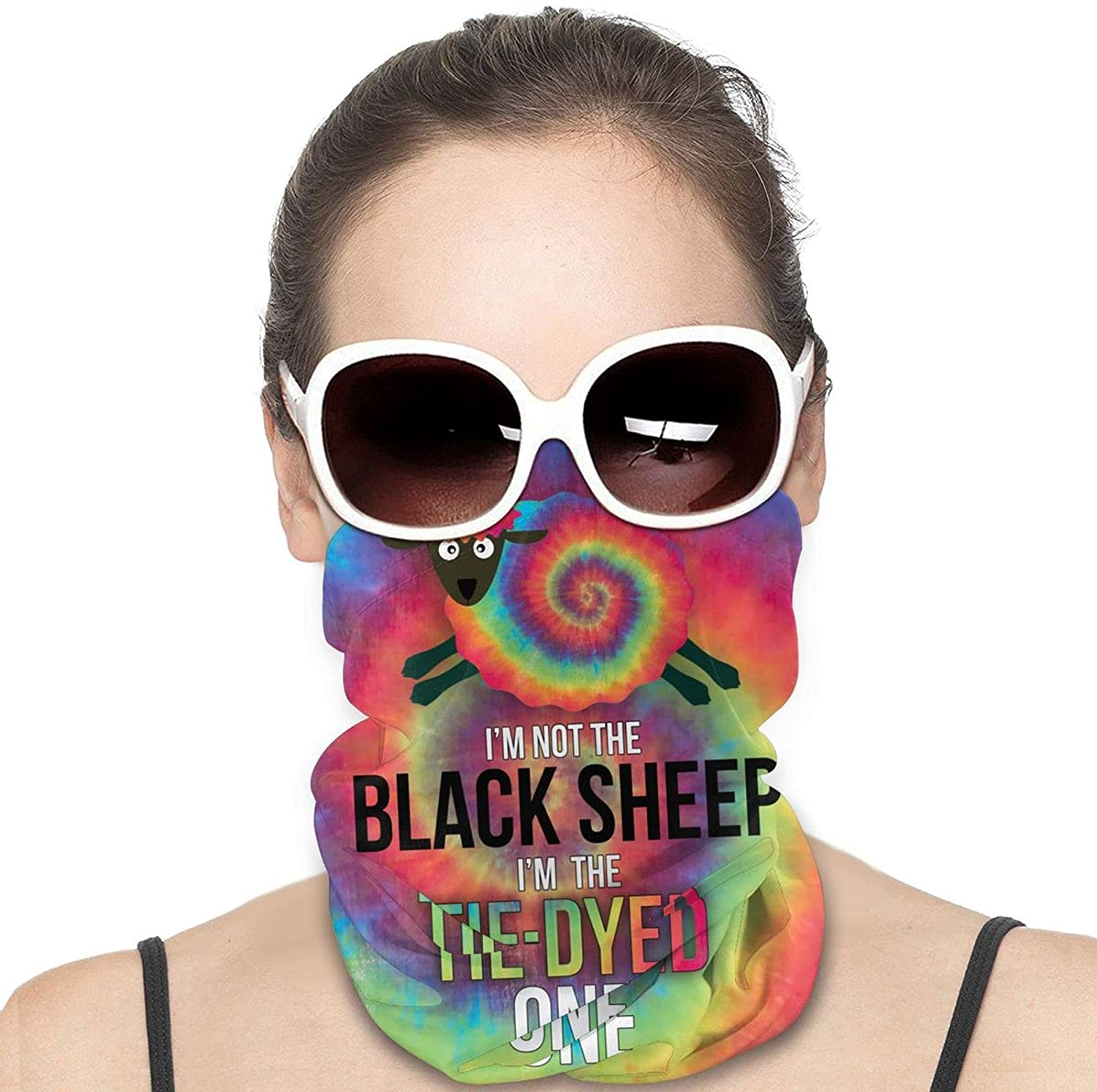 I Am Not A Sheep Round Neck Gaiter Bandnas Face Cover Uv Protection Prevent bask in Ice Scarf Headbands Perfect for Motorcycle Cycling Running Festival Raves Outdoors