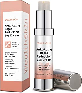 Anti-Aging Rapid Reduction Eye Cream Visibly Reduce Under- Eye Bags, Wrinkles, Dark Circles, Fine Lines & Crow's Feet Inst...