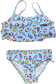 Swim Girls' Two Piece Flounce Bikini Swimsuit Bathing Suit