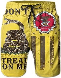 Don't Tread On Me Flag NRA Men's Beach Shorts Swim Trunks - Swimsuit Athletic Shorts