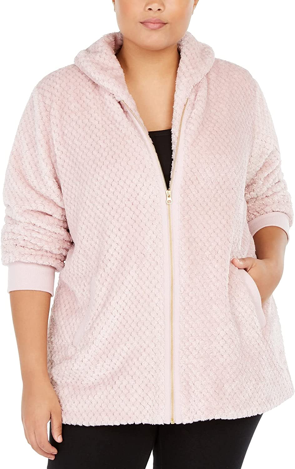 Ideology Womens Plus Size Quilted Sherpa Jacket