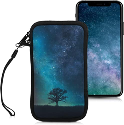 """kwmobile Neoprene Sleeve for Smartphone Size L - 6.5"""" - Shock Absorbing Pouch Case - Protective Phone Bag - Cosmic Na..."""