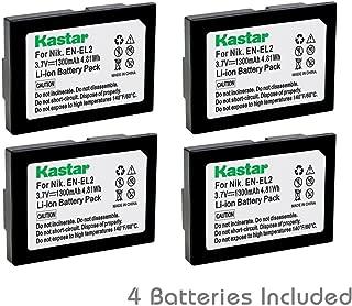 Kastar Battery (4-Pack) for Nikon EN-EL2 work with Nikon Coolpix 2500, Nikon Coolpix 3500, Nikon Coolpix SQ500 Digital Cameras