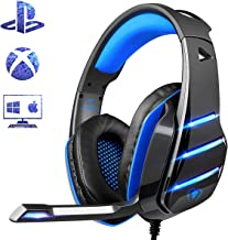 PS4 Gaming Headset with Mic, Beexcellent Newest Deep Bass Stereo Sound Over Ear Headphone..