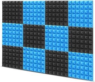 "Little-Lucky Acoustic Foam Panels,SoundProof Padding Foam Panels,2"" X 12"" X 12"" Studio Foam Pyramid Tiles Sound Absorbing ..."