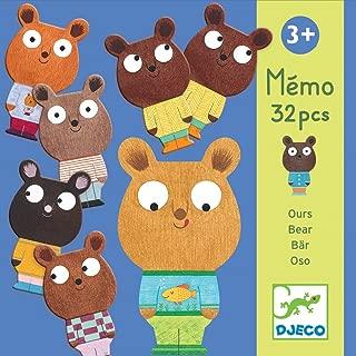 DJECO Action and Reflection Board Games DJECOEducational Memo Bear, Multicolour (15)