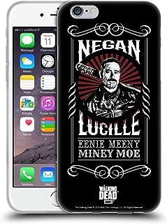 Official AMC The Walking Dead Lucille Negan Biker Art Soft Gel Case Compatible for iPhone 6 / iPhone 6s