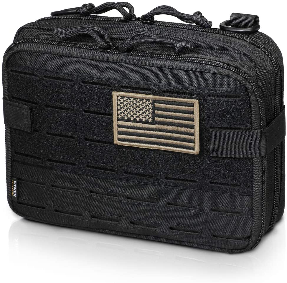 Tactical Compact Water-Resistant EDC Pouch Details about  /2Pack Molle Pouches and 2 carabiners