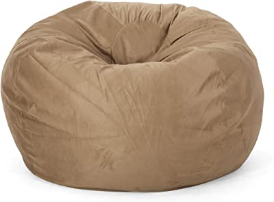 Christopher Knight Home Harrison Modern 5 Foot Microfiber Bean Bag Cover Only, Beige