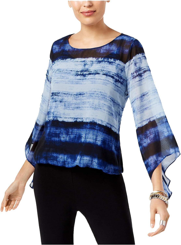 Alfani Women's AngelSleeve Printed Blouson Top