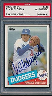 1985 Topps #440 Fernando Valenzuela Certified Authentic Auto *7697 - PSA/DNA Certified - Baseball Slabbed Autographed Cards