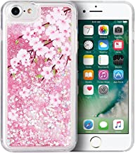 SumacLife Protective, Sparkling Waterfall Skin for Apple iPhone 7 Plus or iPhone 8 Plus - Pink Cherry Blossoms