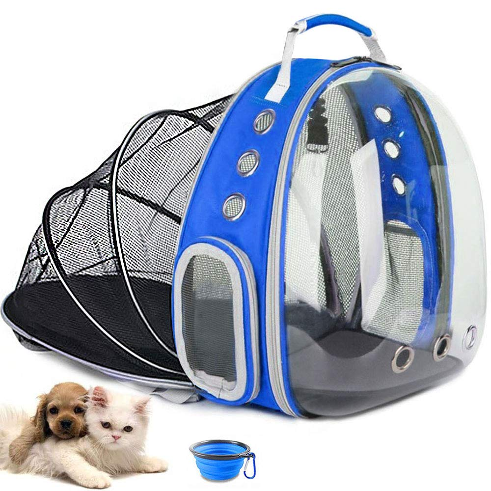Airline-Approved BEIKOTT Cat Backpack Carriers Hiking and Outdoor Use Pet Bubble Backpack Carriers for Cats Puppy Dogs and Birds Ventilate Dog Carrier Backpack for Travel