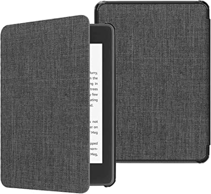 Fintie Slimshell Case for All-New Kindle Paperwhite (10th Generation, 2018 Release) - Premium Lightweight PU Leather Cover with Auto Sleep/Wake for Amazon Kindle Paperwhite E-Reader, Denim Charcoal