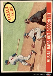 1959 Topps # 470 Raps Out 3000th Hit Stan Musial St. Louis Cardinals (Baseball Card) Dean's Cards 2 - GOOD Cardinals