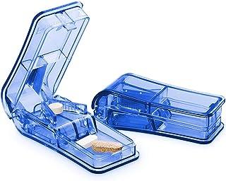 防水 薬入れ 2個ピルカッター薬箱ピルカッティングスプリッタ薬タブレットカッター周器収納ケースピルボックスピルケース 1AI4AIDA-12-01P