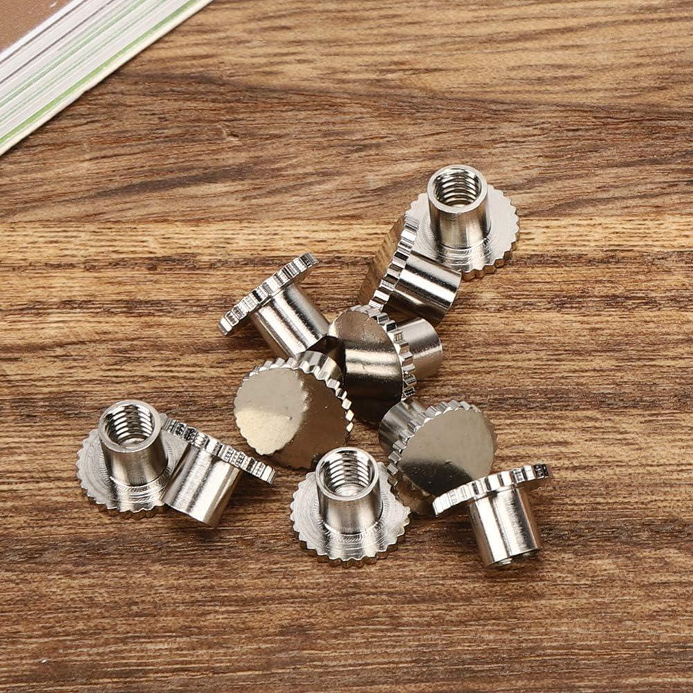 10 remaches de metal con cabeza plana para bolsos mochilas y muebles clavos y remaches plata remaches de cabeza plana cierres de lat/ón moleteados para cinturones