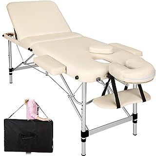 tectake Mobile Aluminium Massageliege 3 Zonen höhenverstellbar inkl. hochwertiger Alu-Kunststoffkopfstütze + Tasche - dive...
