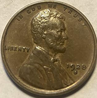 1928 S Lincoln Wheat Penny Cent AU Almost Uncirculated Condition