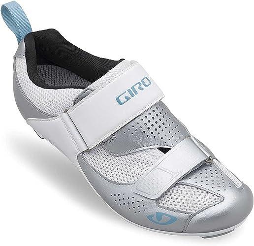 GIRO FLYNT TRI BLANCHE ET ARGENTE Chaussures de triathlon femme